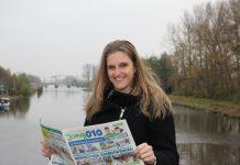 foto Linda met krant
